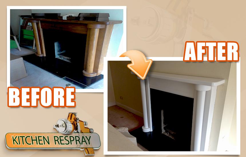 Paint fireplace surrounds
