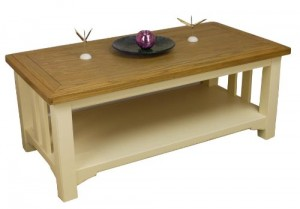 Two tone coffee table, coffee table respray