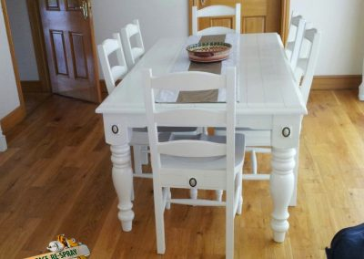 we spray furniture |painted dining table and chairs