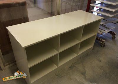 Storage unit painted